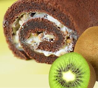 Рецепт: Шоколадные роллы с киви