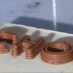 Надпись шоколад - Принтер шоколада